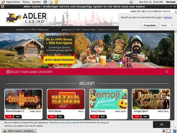Adler Casino Code