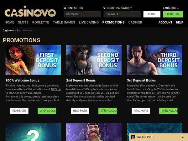 App Casinovo Promotions