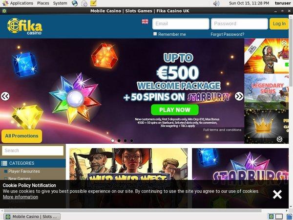 Fika Casino Match Bonus