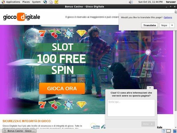 GiocoDigitale.it Casino Inscrivez-vous