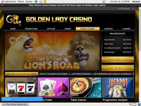Goldenladycasino Pay Pal