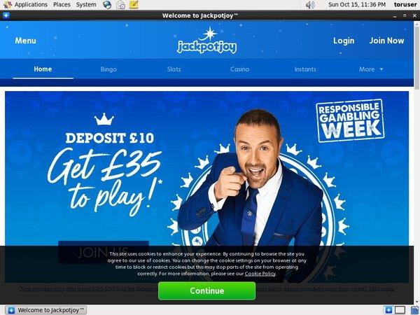 Jackpot Joy New Player Bonus