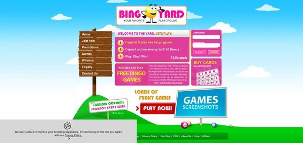 Joining Bingoyard Bonus