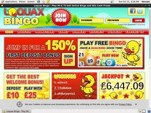 Loquaxbingo Sign Up Offers