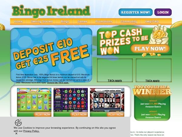 Bingoireland Online Casino Offers