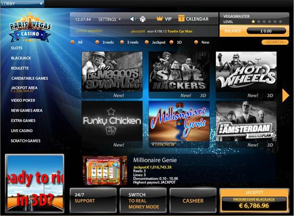 Paris Vegas Casino Create New Account
