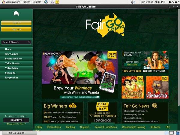 Pay Pal Fair Go Casino
