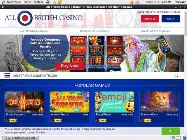 All British Casino Telephone Betting