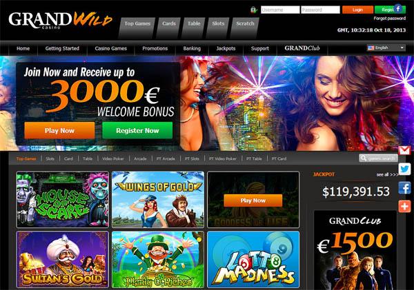 Grand Wild Casino Boas Vindas