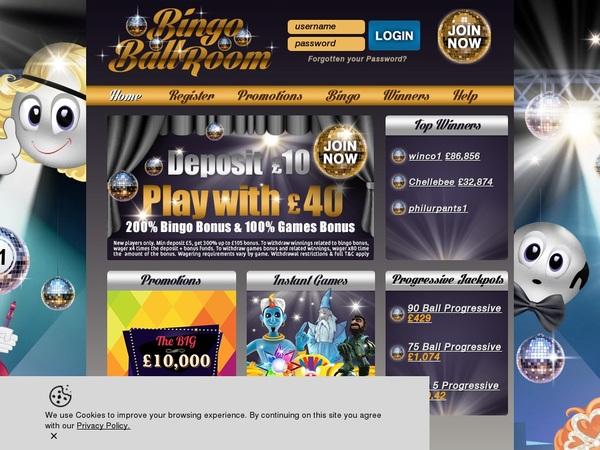 Bingoballroom Online Casino Games