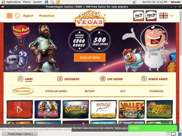Live Casino Freakyvegas