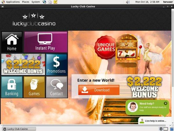 Signup Bonus Lucky Club Casino