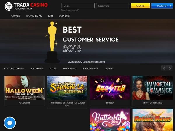 Trada Casino Promo Code 2017