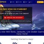 Spin Prive Casino Minimum Bet