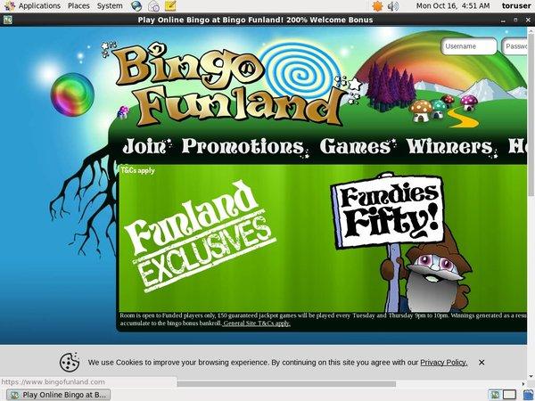 Bingo Funland Inscríbete
