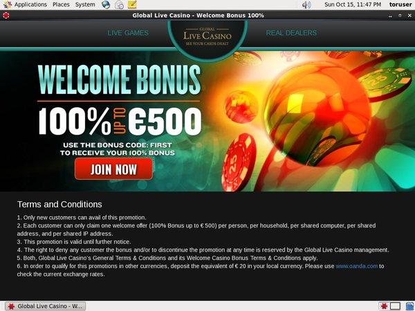 Global Live Casino Games