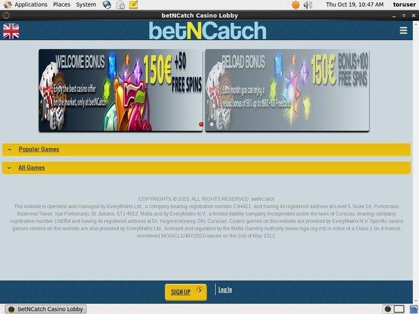 Bet N Catch Free Rolls