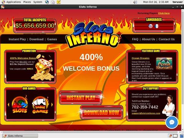 Slots Inferno Online Betting