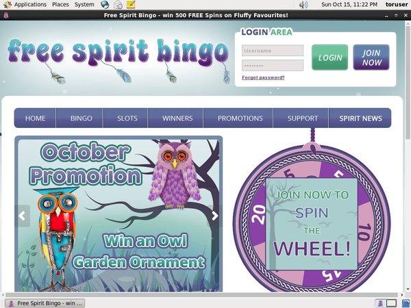 Free Spirit Bingo Primer Depósito
