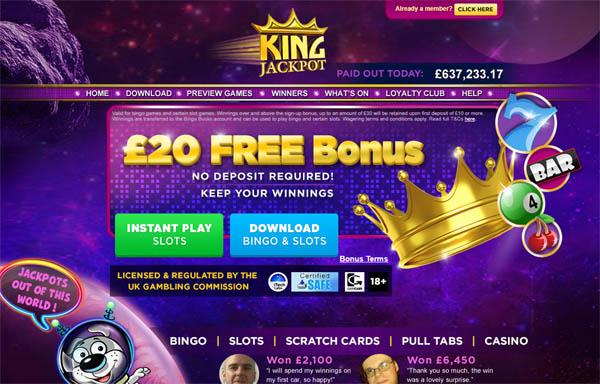 King Jackpot Aloha Free Spins