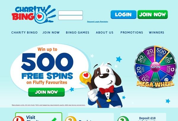 Free Spins Charity Bingo