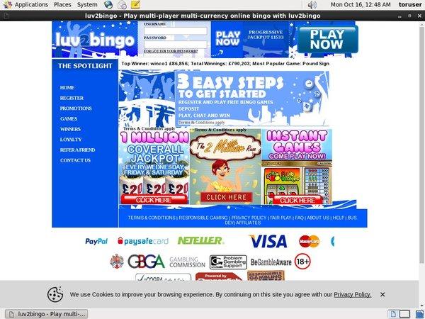 Luv2bingo Gambling Sites