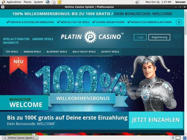 Platin Casino Välkomstbonus