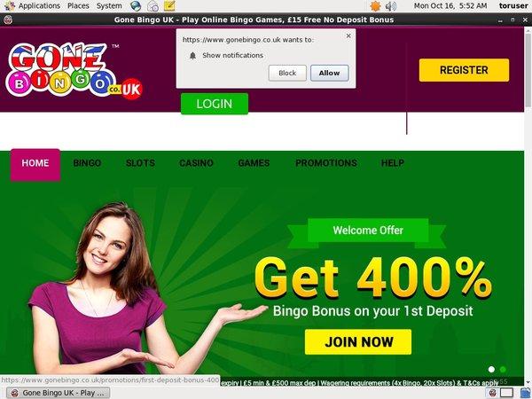 Gone Bingo Casino Games