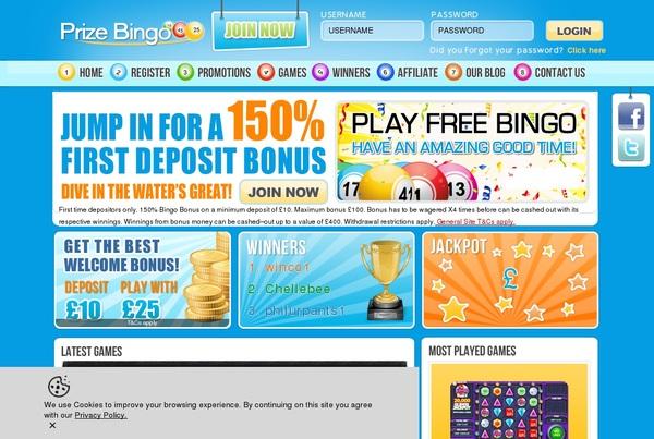 Prize Bingo Free Plays